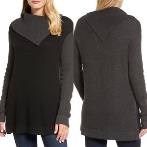 💫Vince Camuto Color Block Cowl Neck Sweater